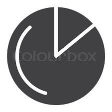Financial Pie Chart Icon Vector Stock Vector Colourbox