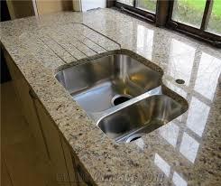 Giallo Santa Cecilia Granite Countertop, Yellow Granite Kitchen Countertops  Brazil
