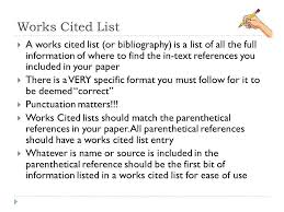 How To List Works Cited Citations And Works Cited Lists Ppt Video Online Download