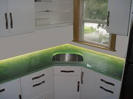 countertop lighting. Custom Fusion Glass Countertop With LED Lighting