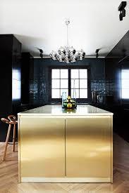 contemporary-kitchen-gold-backsplash-gold-and-black-modern-