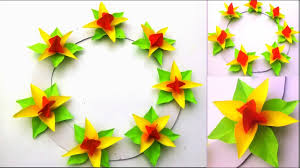 paper craft flowers wall hanging easy paper flower wall hanging paper easy flower