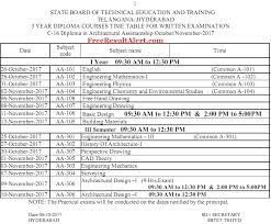 ts sbtet diploma time table oct nov official c c  ts sbtet diploma time table oct nov 2017