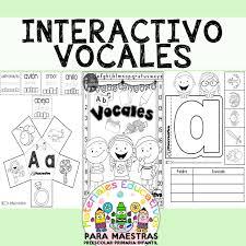 En la actualidad, los niños se relacionan con la tecnología desde edades muy tempranas. Cuaderno Interactivo De Vocales Materiales Educativos Para Maestras
