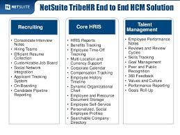 Human Capital Management With Net Suite Tribehr Curiousrubik