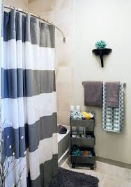 apartment bathroom decor. Remarkable Ways To Inspire With Striped Curtains Apartment Bathroom Decor E
