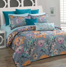 orange and turquoise duvet cover