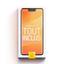 Maroc telecom propose un large choix de forfaits avantageux de 6 h à 34 h, valables 24 h/24, 7j/7, conçus pour répondre à vos besoins. Forfait Mobile Tout Inclus 12 Go Avec Appareil Mobile Videotron
