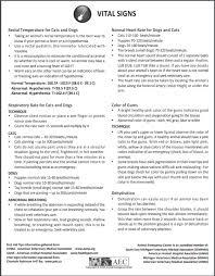Veterinary Vital Signs Chart Printable Printable Medical