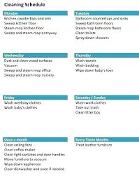 Household Chore List Template Zone Cleaning Chore Schedule Template Home Chores Household