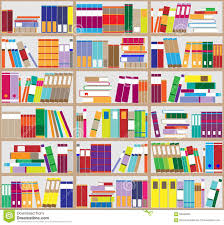 bookshelf background shelves full of colorful books home library with books vector