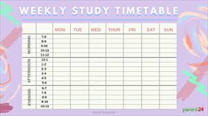 University Timetable Maker Print It Weekly Study Timetable Parent24