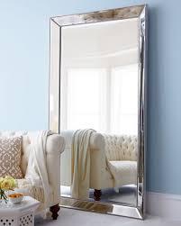 silver floor mirror. Perfect Silver AntiquedSilver Beaded Floor Mirror For Silver E