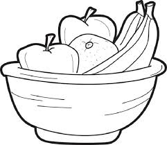 Small Picture coloring page of fruit bowl Food Pinterest