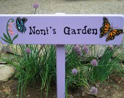 garden sign. custom garden sign, personalized sign with stake, decor, e