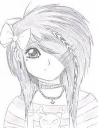Small Picture Anime Girl Neko Coloring Pages Emo Anime Girl by StarFirer Art