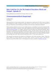 Why I Left the U.S. for My Surgical Procedure: Fleck and Fluegel - Episode  21 21noeasyanswersfleck-fluegel.mp3