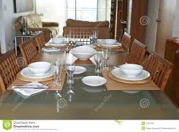 Setting Dining Room Table