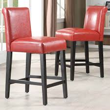 HomeHills Red 24-Inch Bar Stools, Set of Two