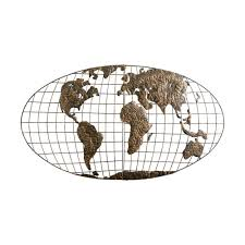 southern enterprises 46 in x 25 5 in metal iron world map wall art