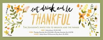 Free Online Thanksgiving Invitations Eat Drink And Be Thankful Invitation Celebrating