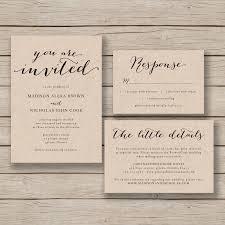 Diy Invitation Template Printable Wedding Invitation Template Rustic Invitation