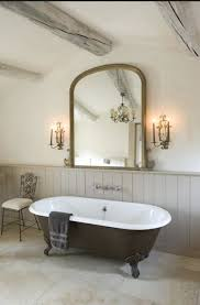 modern country bathroom ideas. Love This Modern Country Bathroom. Try Farrow And Ball Slipper Satin Bone For Similar. Bath Tub, Mirror Wainscotting Bathroom Ideas Y