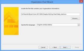 Visio Org Chart Wizard Microsoft Visio 2013 Using The Organization Chart Wizard