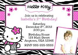 Birthday Party Invitation Card Template Free Hello Kitty Party Invitations Combined With Hello Kitty Birthday