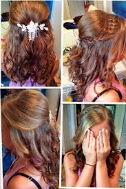 Hairstyles For Formal Dances Half Up Half Down W Braid This Is My Sisters Hair For A Dance At