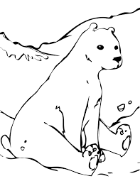 Small Picture Polar Bear Coloring Page Handipoints