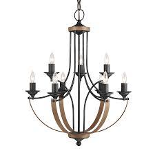 sea gull lighting corbeille 27 in 9 light stardust cerused oak wrought iron