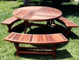 vast round wood picnic tables d5594575 round wooden picnic tables with umbrella detached table bench wood
