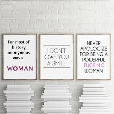 Girl Power Feminist Canvas Posters And Prints Abstract Minimalist