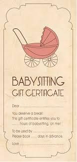 Homemade Gift Certificates