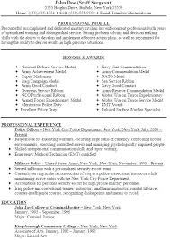 Resumes For Police Officers Officer Resume Chief Sample With No E ...