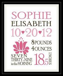 Baby Girl Birth Announcements Template Free Free Template Download To Print And Frame Your Own Birth