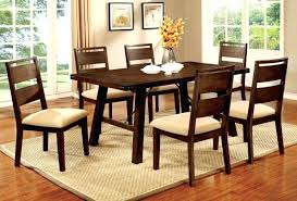 8 furniture of 7 pieces transitional dark oak finish dining table room chairs and wonderful set