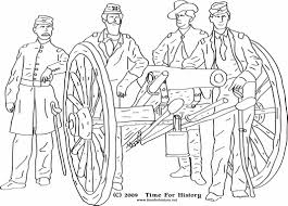 Civil War Coloring Pages Group Of