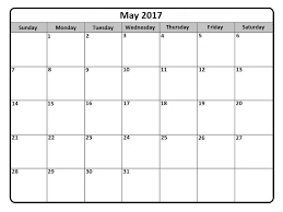 calendar for the month of may may 2017 calendar printable template get calendar templates