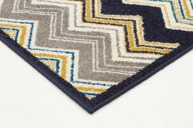indoor outdoor chevron rug navy