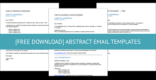 Email Address Templates Free Download Call For Abstract Email Templates Currinda