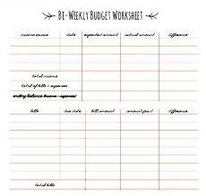 Excel Biweekly Budget Template Stupendous Bi Weekly Budget Template Ideas Free Printable Bi