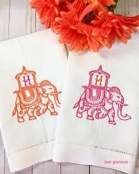 Orange Elephant Embroidery Designs India Elephant Howdah Embroidery Design Monograms