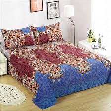 microfiber bedding set. Unique Bedding Boho Style Bedding Lightweight Polyester Microfiber Bed Sheet Set Queen  Size Flat  Fitted 2 Pillow Cases Best Sets Size  For Set L