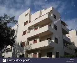 Bauhaus Architecture Style Downtown Tel Aviv Israel Stock Photo