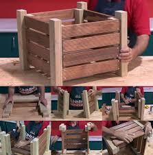 timber planter box plan built with basic tools