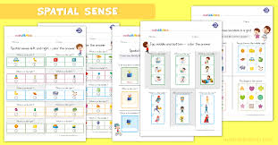 Spatial Relations Worksheets For 1st Grade Position Words