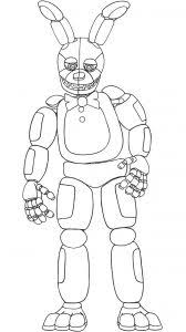 Spring Bonnie Coloring Pages Lovely Printable Lefty Fnaf Withine