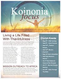 We Give You Thanks Christian Newsletter Template